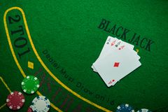 Four ace in poker game Stock Photos