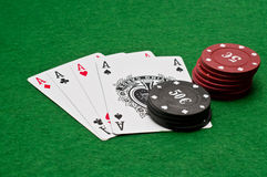 Four ace - win combination Royalty Free Stock Images