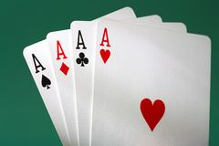 Free Four Aces Royalty Free Stock Image - 1010456