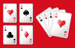 Four aces. Vector illustration of four aces Royalty Free Stock Photography