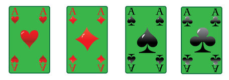The four aces Stock Images