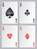 Four Aces. Set of four aces for casino games Royalty Free Stock Photos