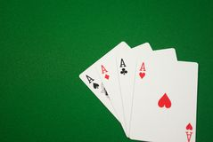 Four Aces. Poker, texas hold em, omaha. Four Aces Royalty Free Stock Image