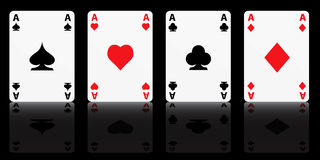 Four Aces stock illustration