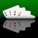 Four aces. Vector illustration of four aces Stock Images