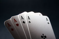 Four Aces. Playing cards, all four aces stock photography