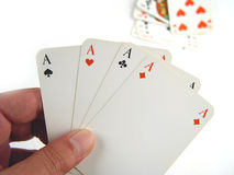 Four aces. Close-up of 4 aces Stock Photo