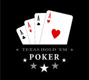 Four aces Royalty Free Stock Image