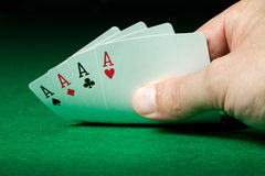 Four aces Royalty Free Stock Images