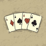 Four Aces. Beautiful illustration of Four Aces Stock Photo