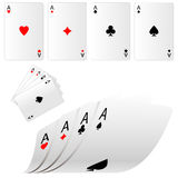 Four aces. Royalty Free Stock Photo