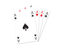 Four aces 3. Playing cards four aces on a white background Stock Photo