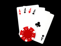 Free Four Aces Stock Photography - 4537452