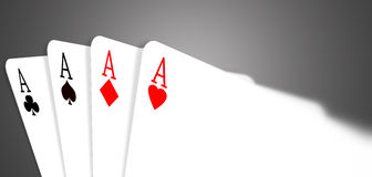 Four aces Stock Photography