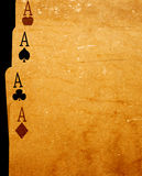 Four aces. On gradient background Royalty Free Stock Image
