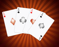 Four aces. A illustration in vectorial mode of four aces game cards Royalty Free Stock Image
