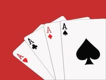 Four Aces. stock photo