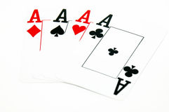 Four Aces. Card Games - Poker Stock Photo