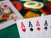 Free Four Aces Royalty Free Stock Image - 8356296