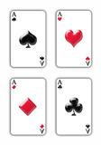 Four Aces. On the isolated background Royalty Free Stock Photography