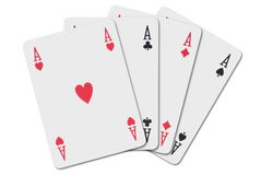 Four aces Stock Photos