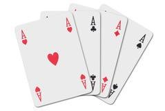 Four aces Stock Photos