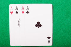 Four aces above view Stock Photo