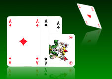 FOUR ACES AND A JOKER Stock Photography