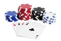 Free Four Aces And Chips Stock Photos - 15210053