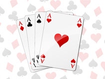 Four aces background Stock Photography