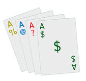 Four Aces Business Jobs Economy Sales Marketing Stock Photo