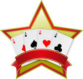 Four aces card Royalty Free Stock Image