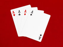 Four Aces Card Stock Photo