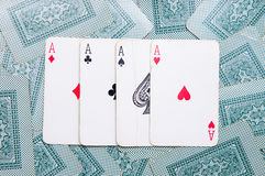 The four aces Royalty Free Stock Photo