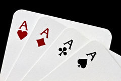 Four Aces closeup Stock Photos