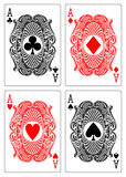 Four aces club diamond heart spade. Illustration of four aces playing cards Stock Photography
