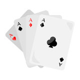 Four Aces of Diamonds Spades Hearts and Clubs Stock Photo