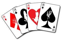 Four Aces Flush Royalty Free Stock Photo