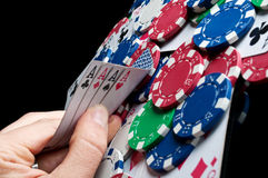 Four Aces In Poker Stock Photos