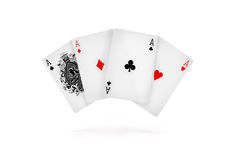 Four aces isolated on white. Four aces isolated, on white Stock Photo