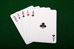 Four Aces And A Joker Royalty Free Stock Photography