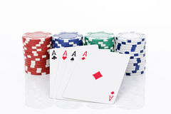 Four aces of a kind Stock Image