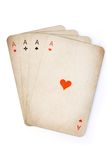 Four aces old cards Stock Images