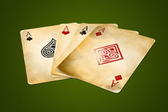 Four Aces - perspective Stock Image