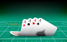 Four Aces Playing Card Royalty Free Stock Image