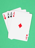 Four aces playing cards Royalty Free Stock Photo