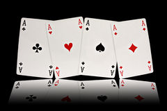 Four aces playing cards suits Royalty Free Stock Photo