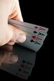 Four aces in poker Stock Image