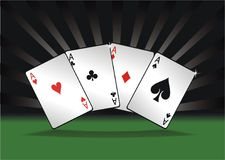 Four aces poker Royalty Free Stock Images