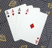 Four Aces Poker Cards Stock Images